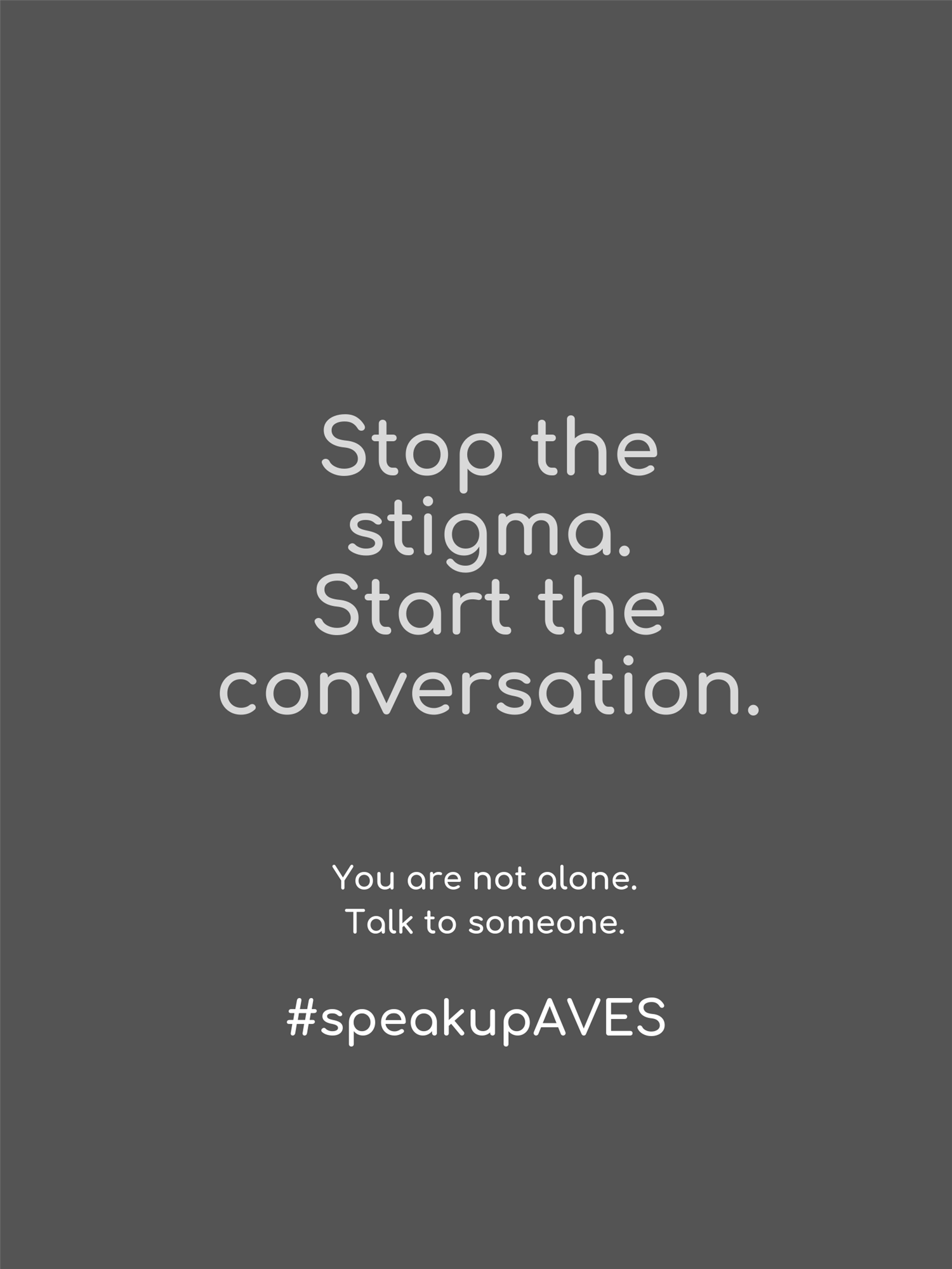 #speakupAVES Mental Health Awareness Month