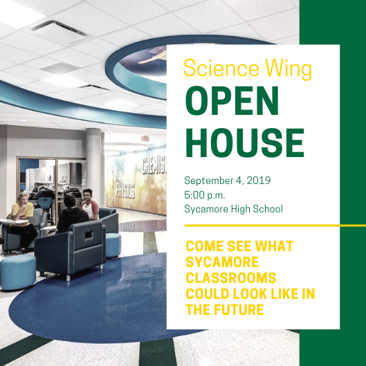SHS Science Wing Open House on Sept. 4 at 5:00 p.m.