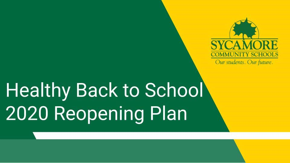 Sycamore Healthy Back to School Plan Presentation Available