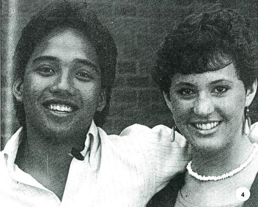 Izzy Risma on left in 1984