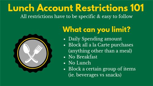 lunch account restrictions 101
